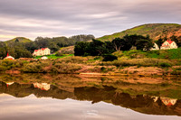 Reflections of a Town in Marin Headlands