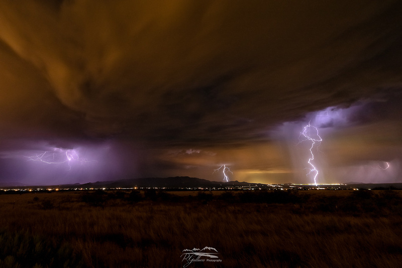 Lightning over Mule Mountains