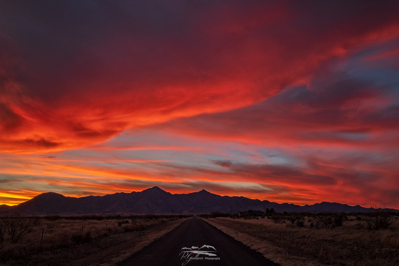 December Sunset over the Huachuca Mountains