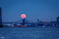 Eclipsed Snow Moon over Brooklyn